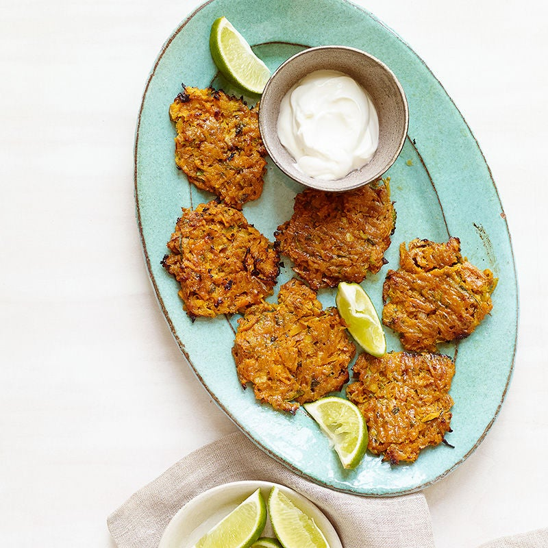 Photo of Santa Fe Sweet Potato and Zucchini Latkes by WW