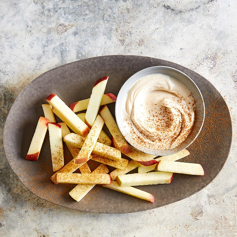 """Photo of Apple """"fries"""" with creamy peanut butter dip by WW"""