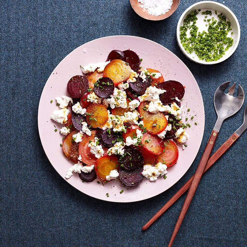 Photo of Roasted curried beets with chive ricotta by WW