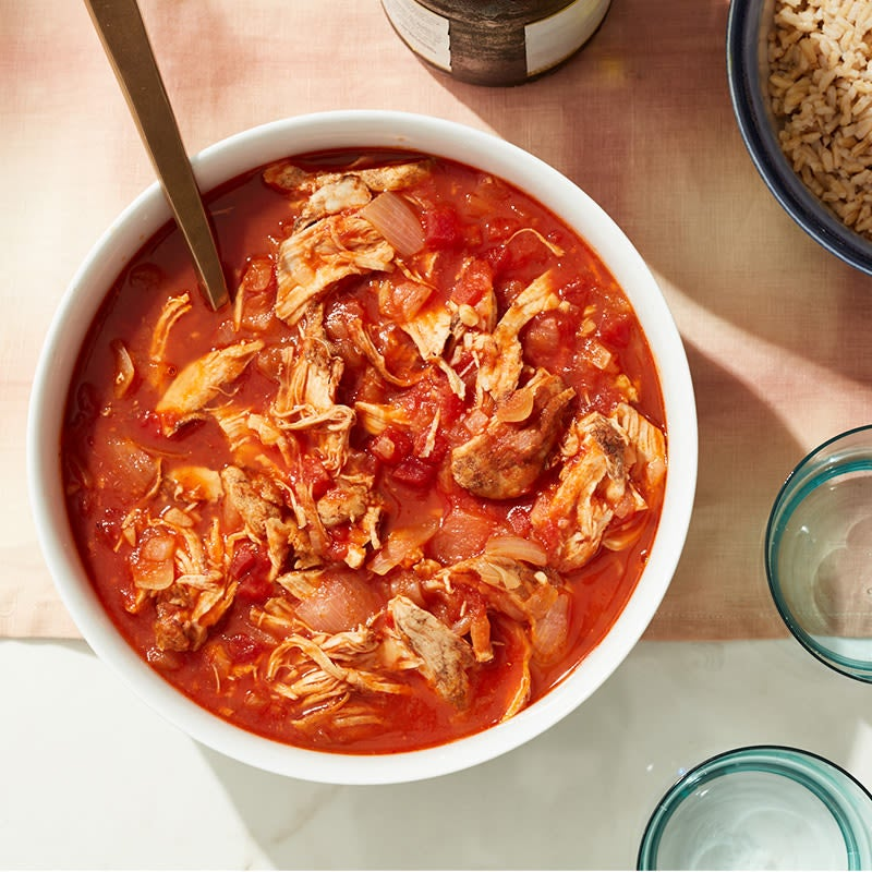 Photo of Cat Cora's pressure cooker stewed Chicken Kapama by WW