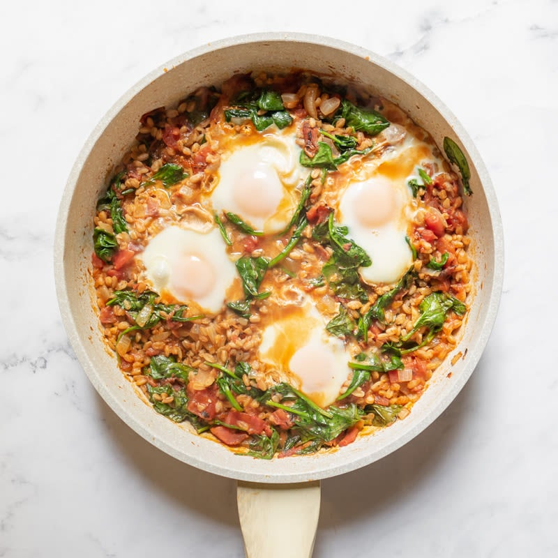 Photo of One-pot spicy farro and egg shakshuka by WW
