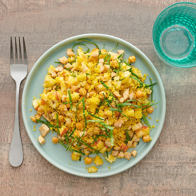 Photo of Warm chicken, apple, and curried couscous salad by WW