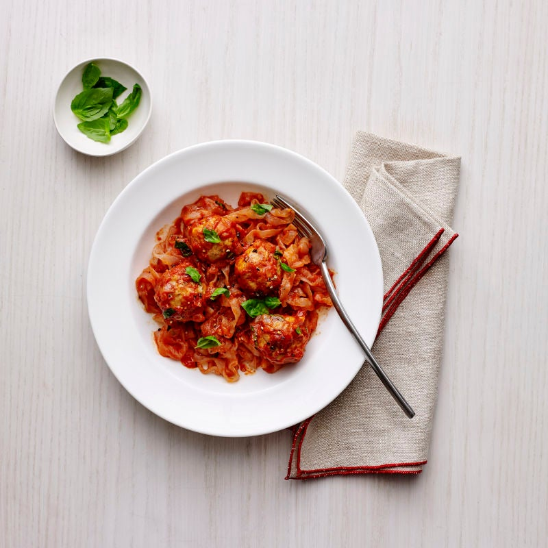 Photo of Skinny Pasta Spaghetti and Meatballs by WW