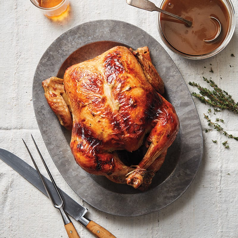 Photo of Roast capon with bourbon sauce by WW