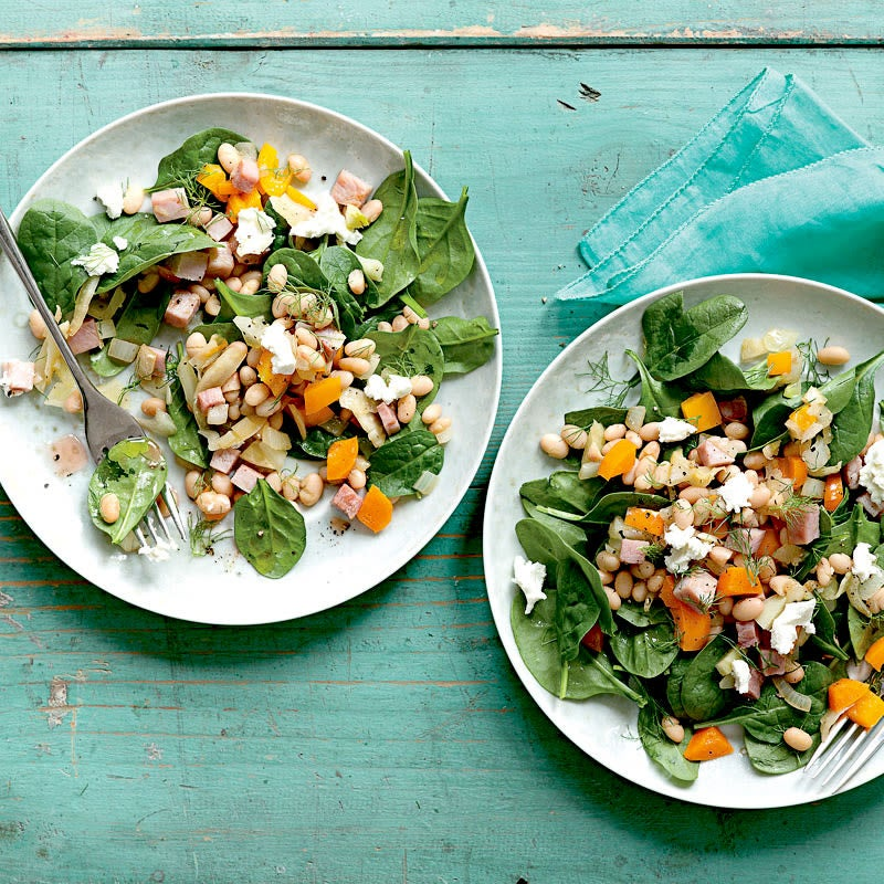 Photo of White Beans with Spinach, Ham, and Goat Cheese by WW