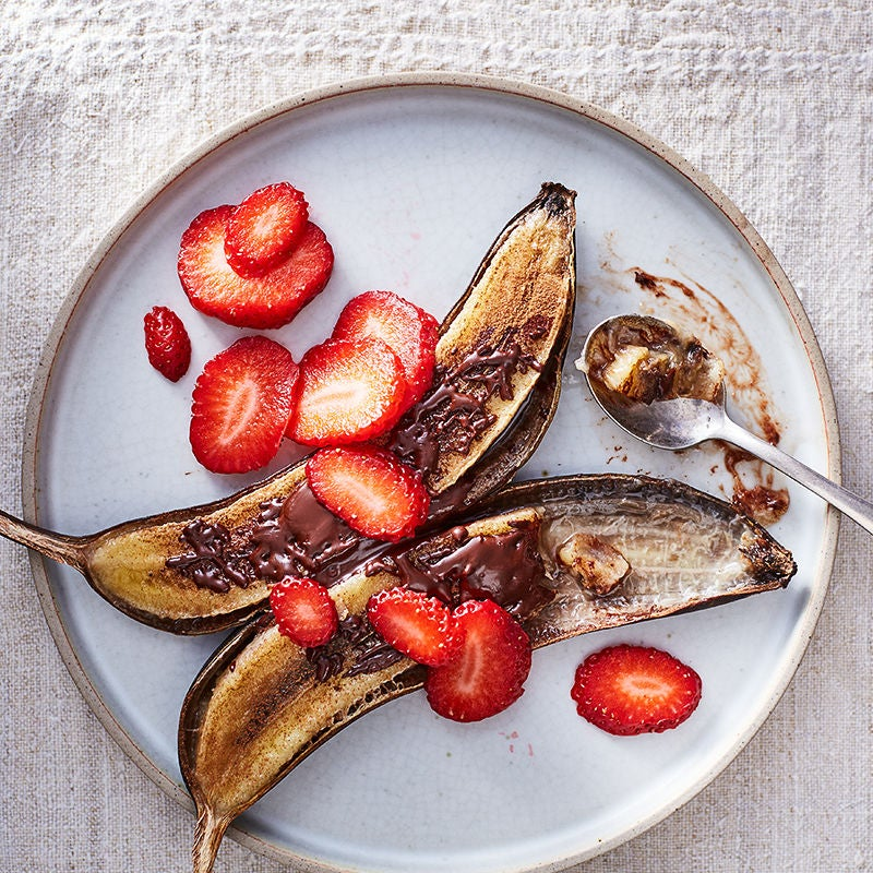 Photo of Grilled bananas with cinnamon and chocolate by WW