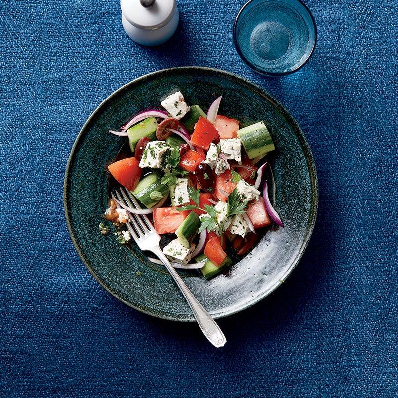 "Photo of Greek salad with herbed tofu ""feta"" by WW"