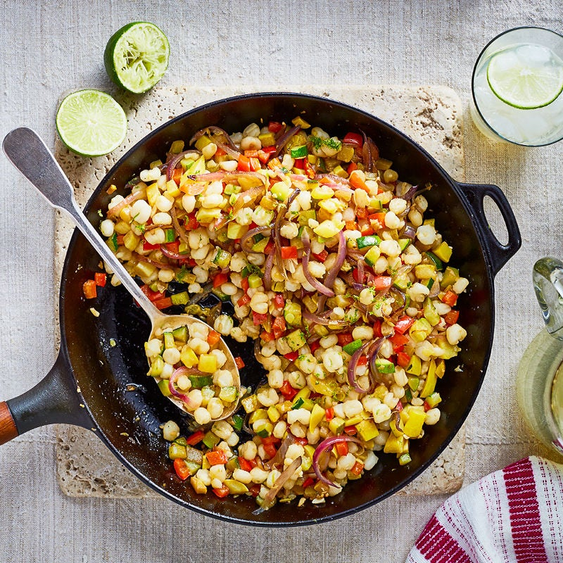 Photo of Skillet-on-the-grill sautéed hominy by WW