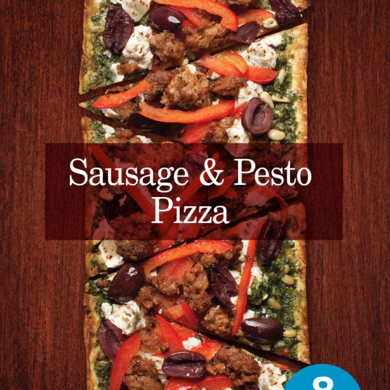 Photo of Sausage and Pesto Flatout Pizza by WW