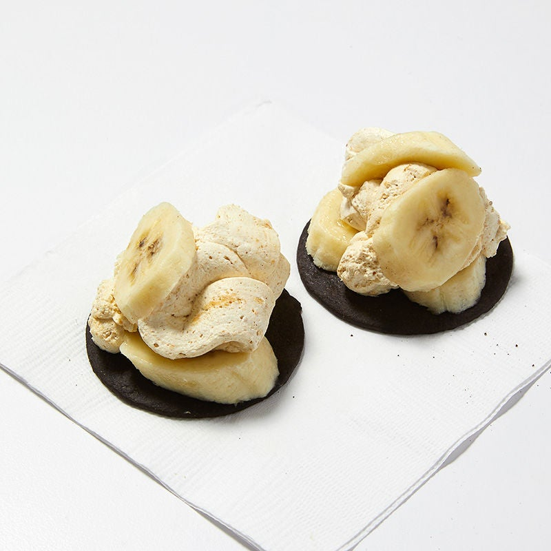 Photo of Peanut butter mousse and banana cookie tarts by WW