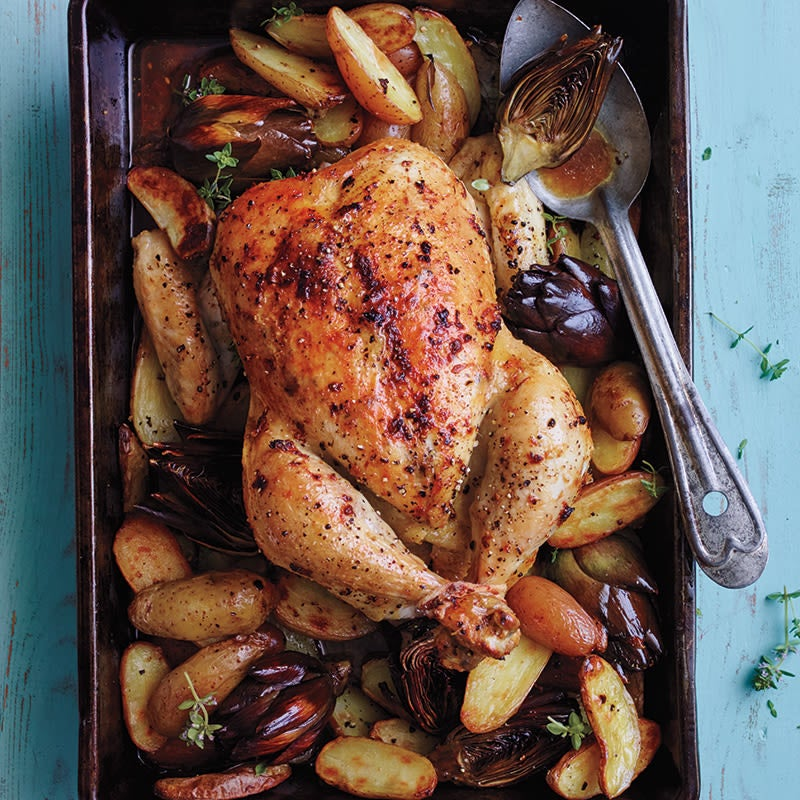 Photo of Roasted chicken with artichokes and potatoes by WW