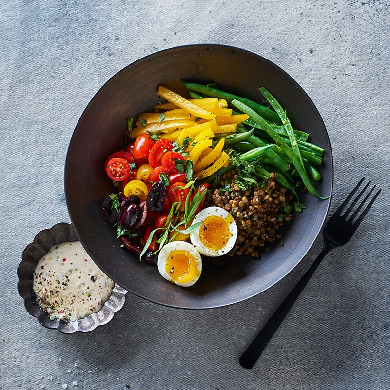 Photo of French lentil bowl with creamy mustard vinaigrette by WW