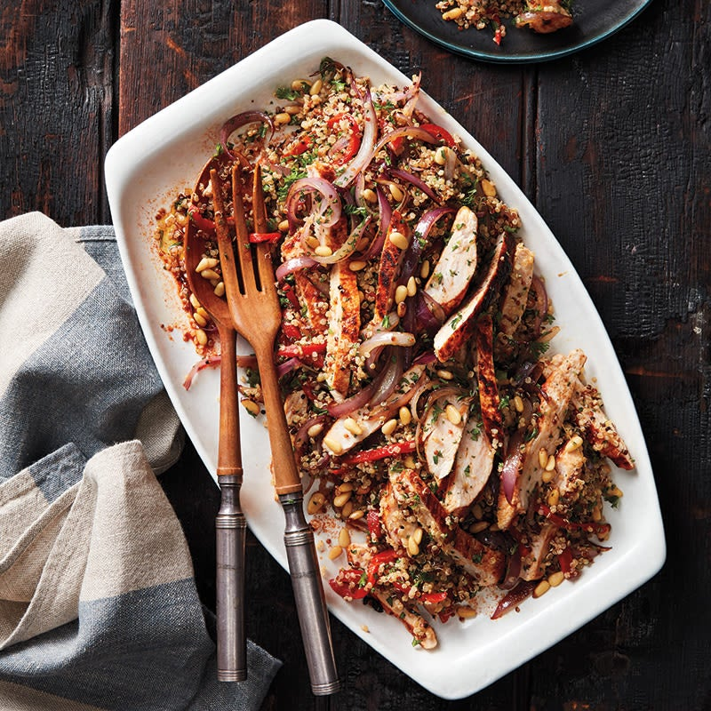 Photo of Smoky turkey, quinoa, and roasted red pepper salad by WW
