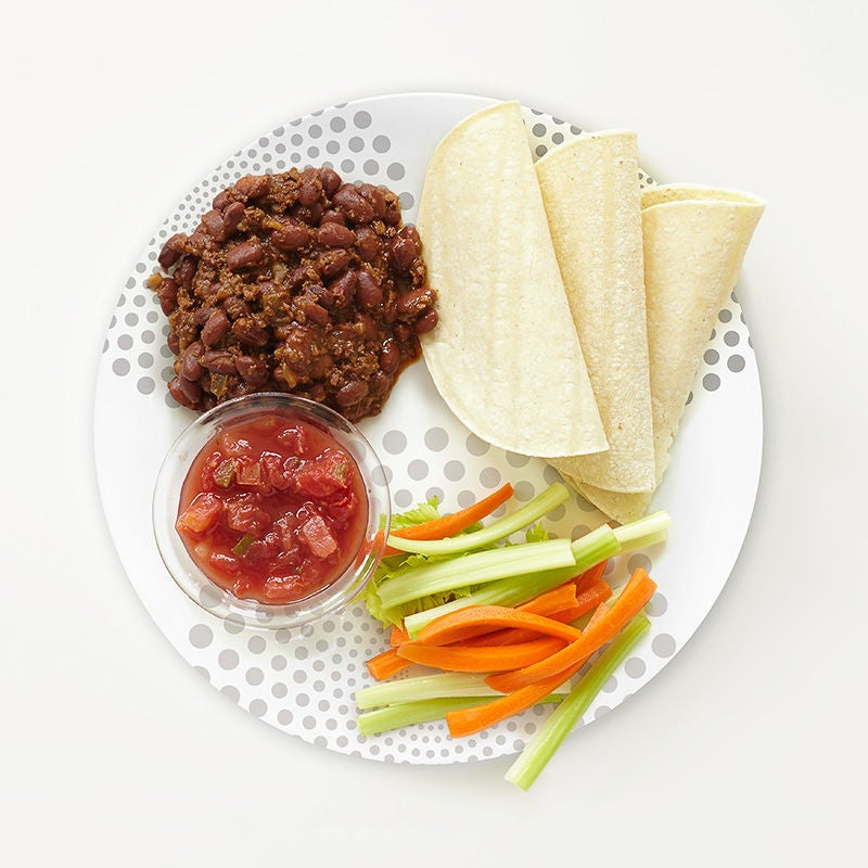 Photo of Portion Plate Veggie Chili Wraps by WW