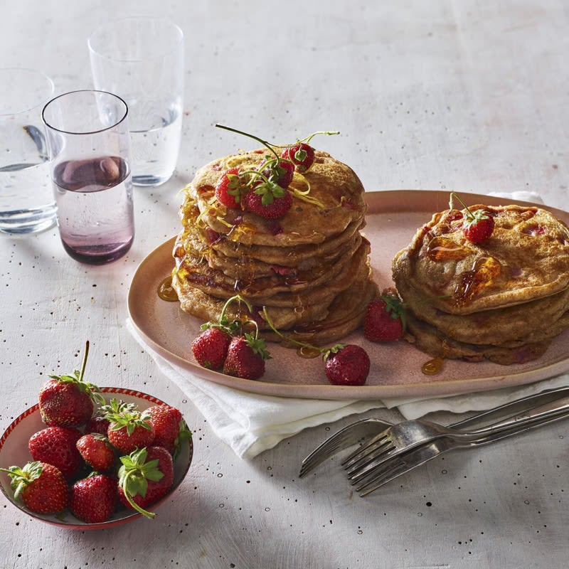 Photo of Strawberry-lemon pancakes by WW