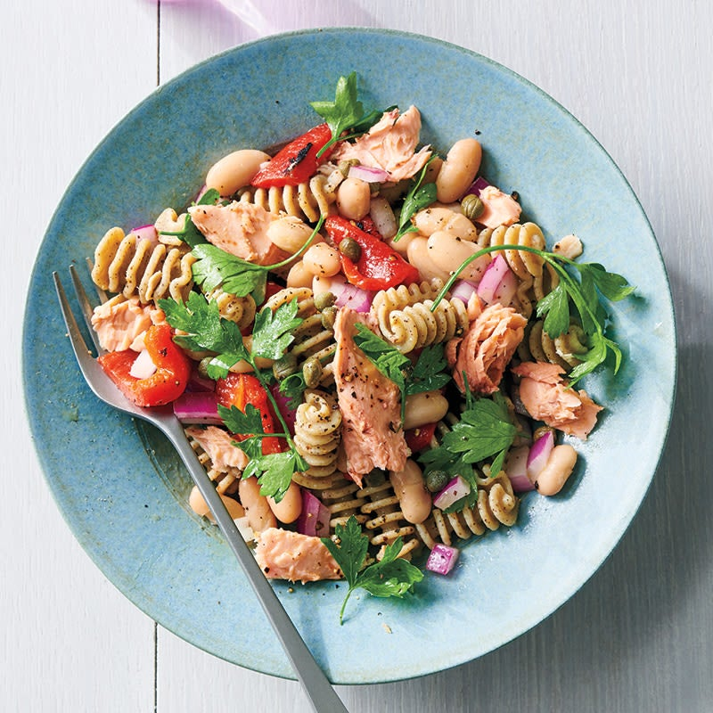 Photo of Salmon, white bean, and pasta salad by WW