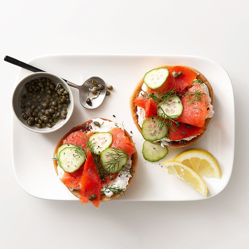Photo of Smoked salmon mini bagel with dill cream cheese by WW