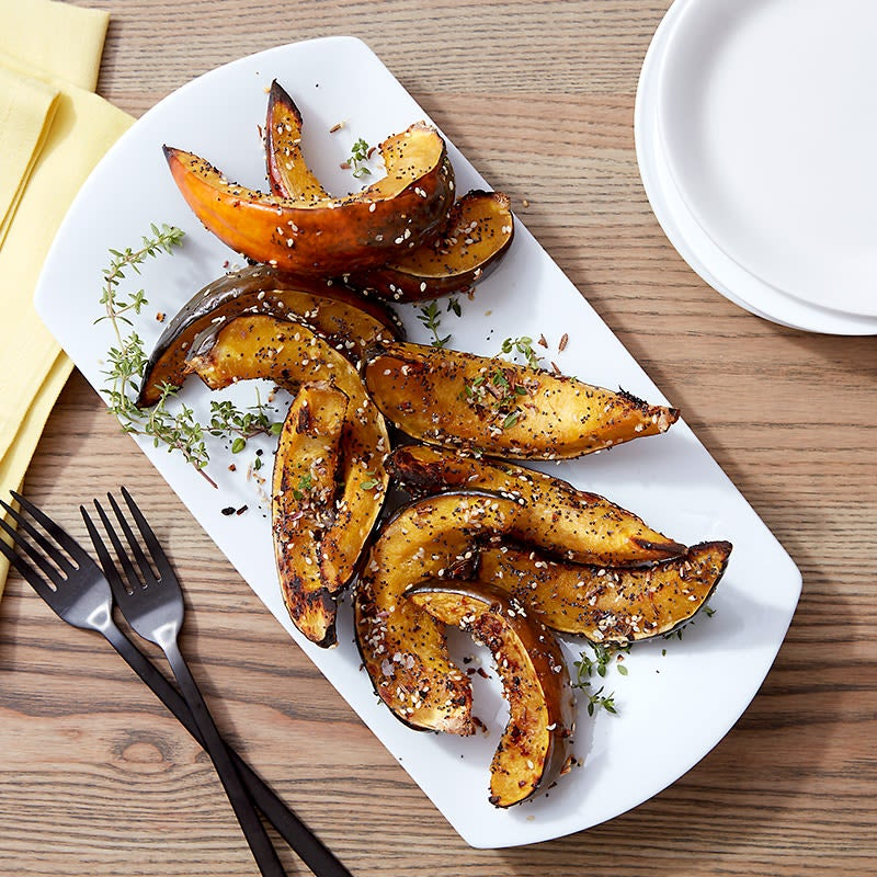 "Photo of Cat Cora's ""everything bagel"" squash wedges by WW"