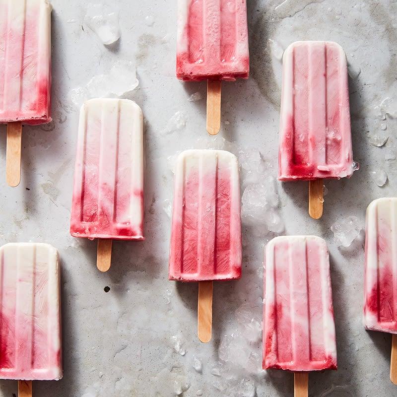 Photo of Raspberry-yogurt pops by WW