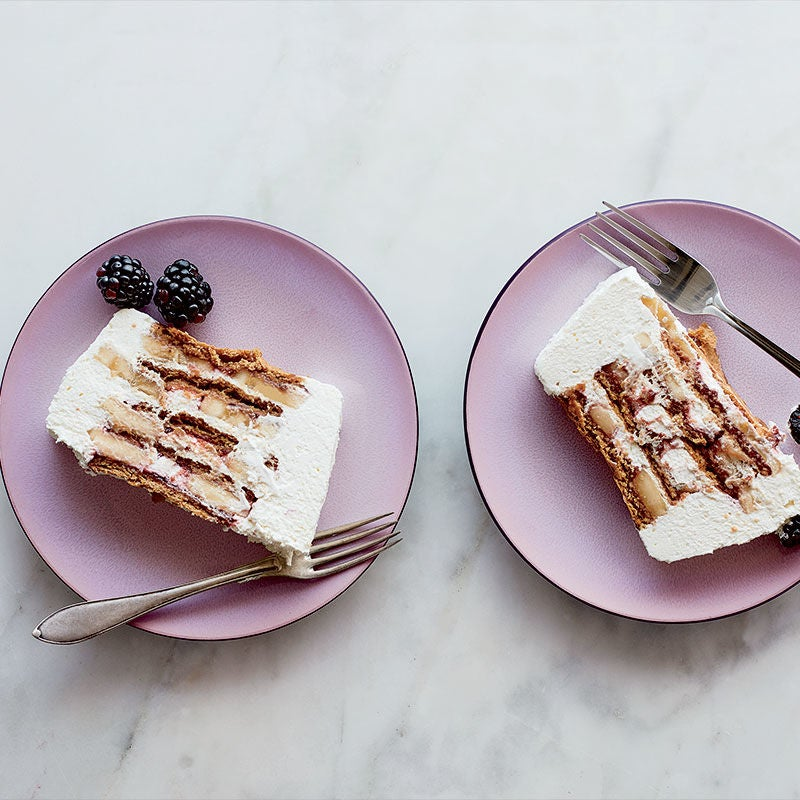Photo of Banana-raspberry graham icebox cake by WW