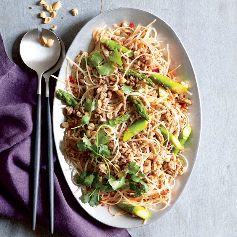 Photo of Thai Turkey, Noodle, and Asparagus Salad by WW