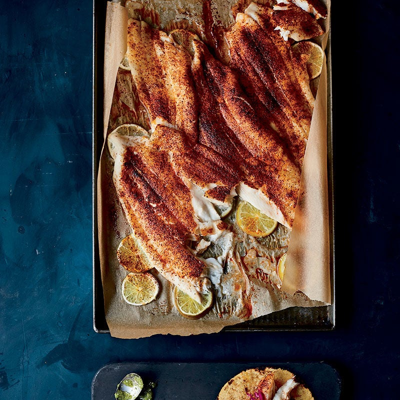 Photo of Roasted flounder with chile and lime by WW