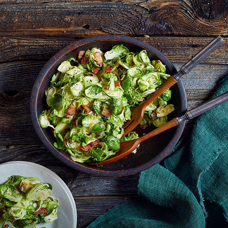 Photo of Shredded Brussels Sprouts with Hot Bacon Dressing by WW
