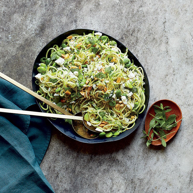 Photo of Zucchini noodles with fava beans, mint and garlic by WW