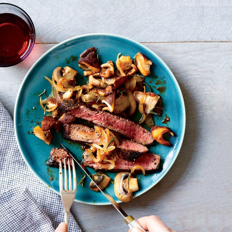Photo of Spice-Crusted Steak with Wild Mushrooms by WW