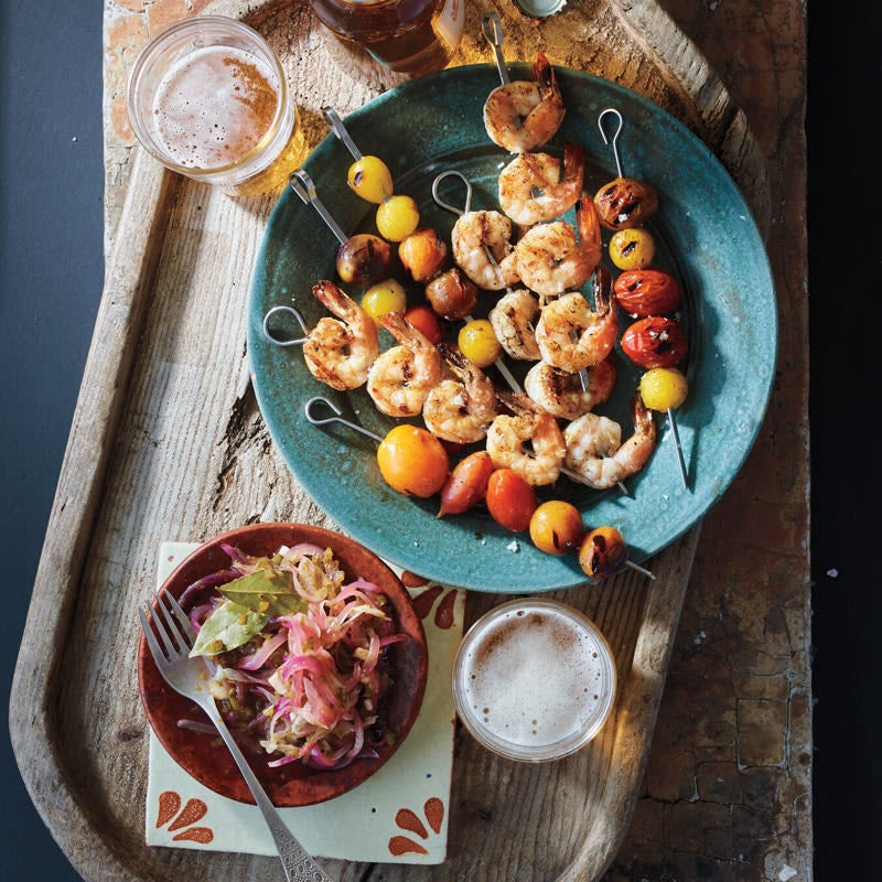 Photo of Shrimp-and-tomato kebabs with jalapeño by WW