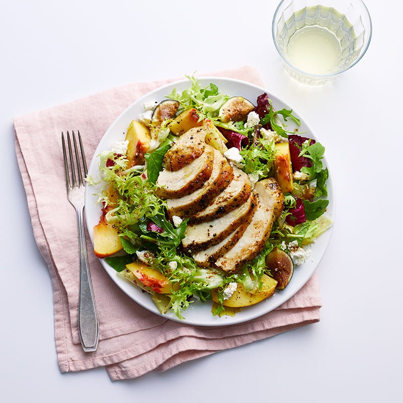 Photo of Chicken, peach & fig salad with ricotta salata by WW
