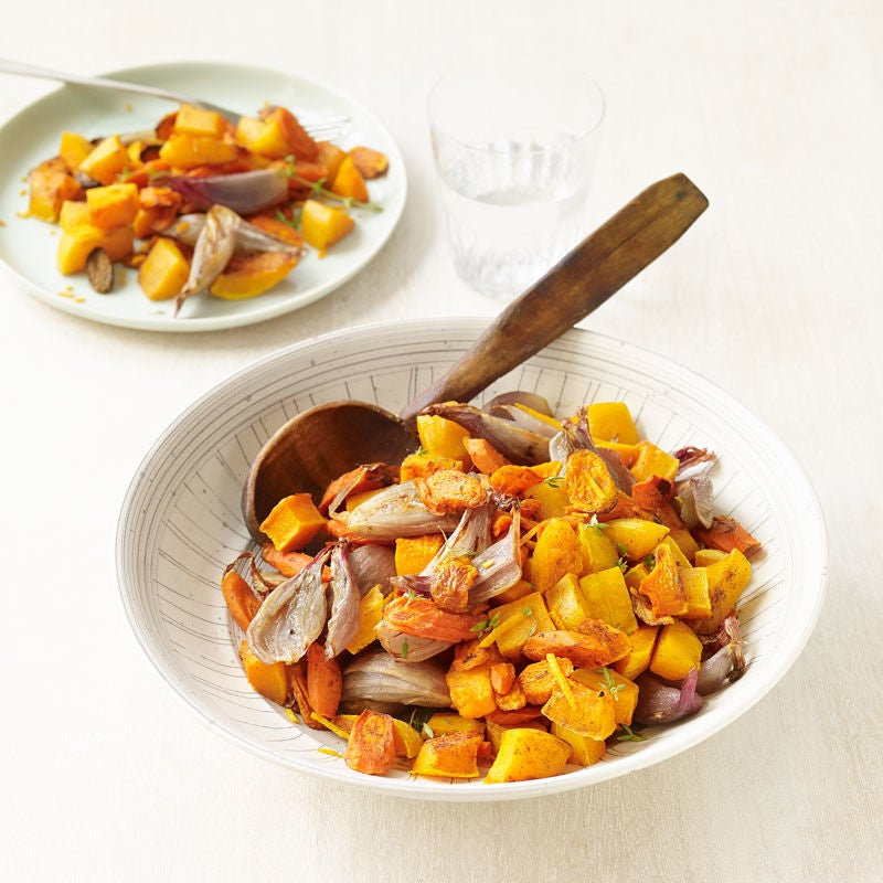 Photo of Roasted carrots & butternut squash with shallot and thyme by WW