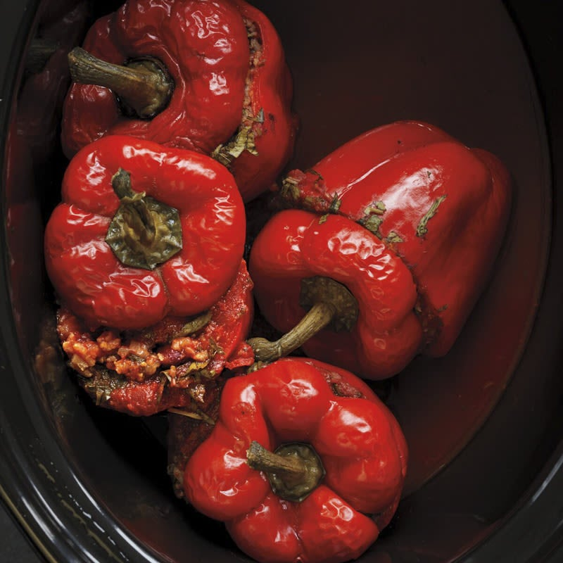 Photo of Rice and bean–stuffed peppers by WW