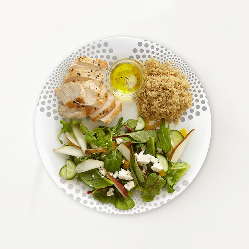 Photo of Portion Plate Roasted Chicken and Quinoa Salad by WW