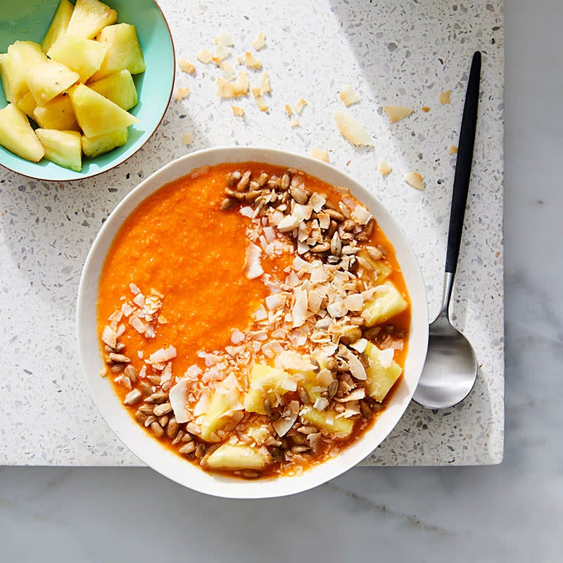 Photo of Carrot-Pineapple Smoothie Bowl by WW