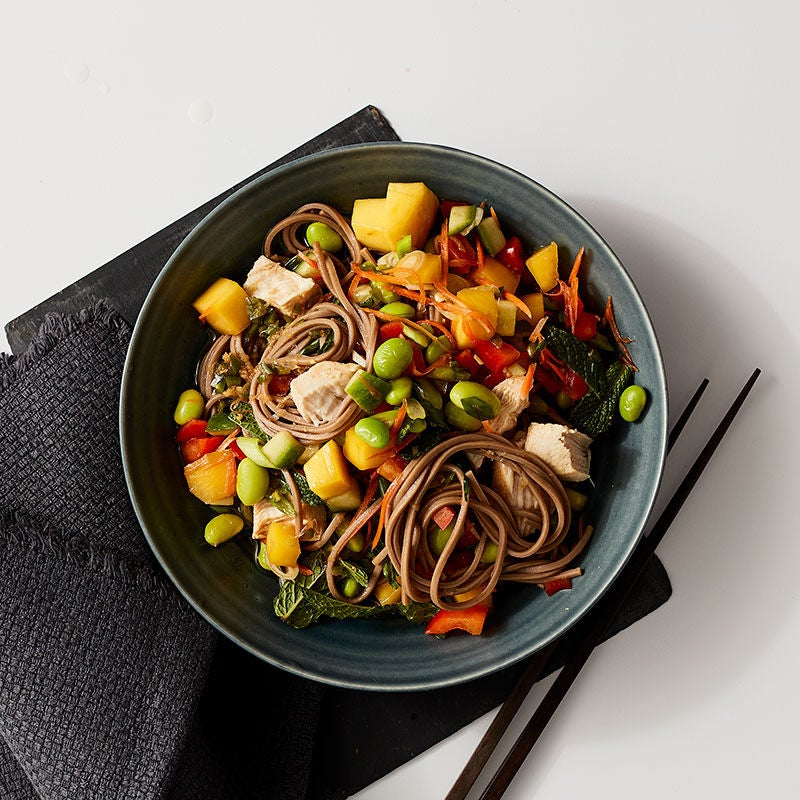 Photo of Mango, chicken, and edamame salad by WW
