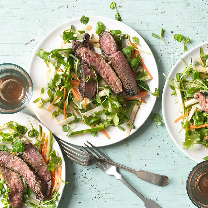 Photo of Thai Beef and Pea Shoot Salad by WW