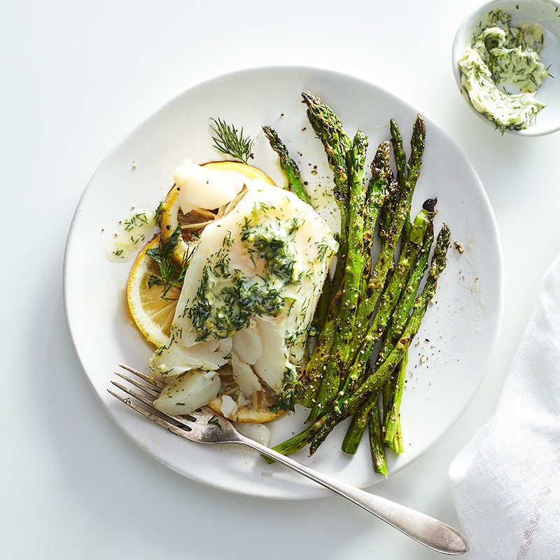 Grilled cod fillets with lemon dill butter recipes for Grilled white fish recipes