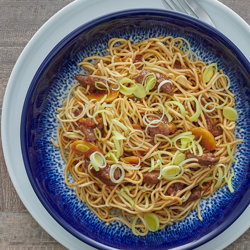 Photo of Orange beef with noodles by WW
