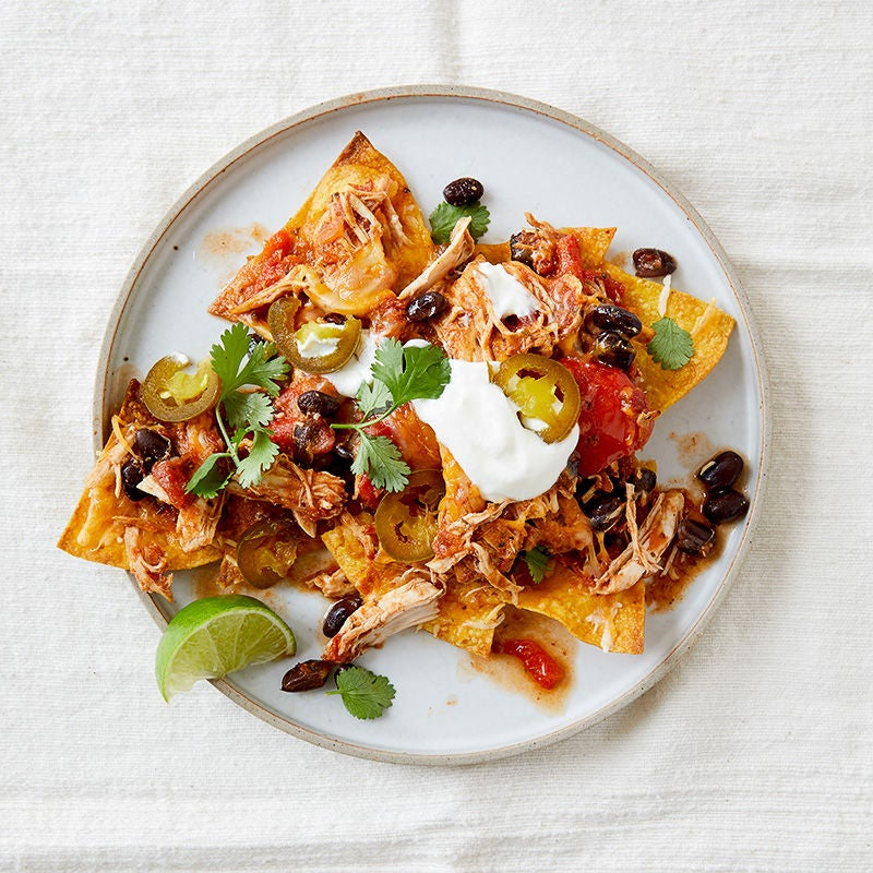 Photo of Slow Cooker Shredded Chicken Nachos by WW
