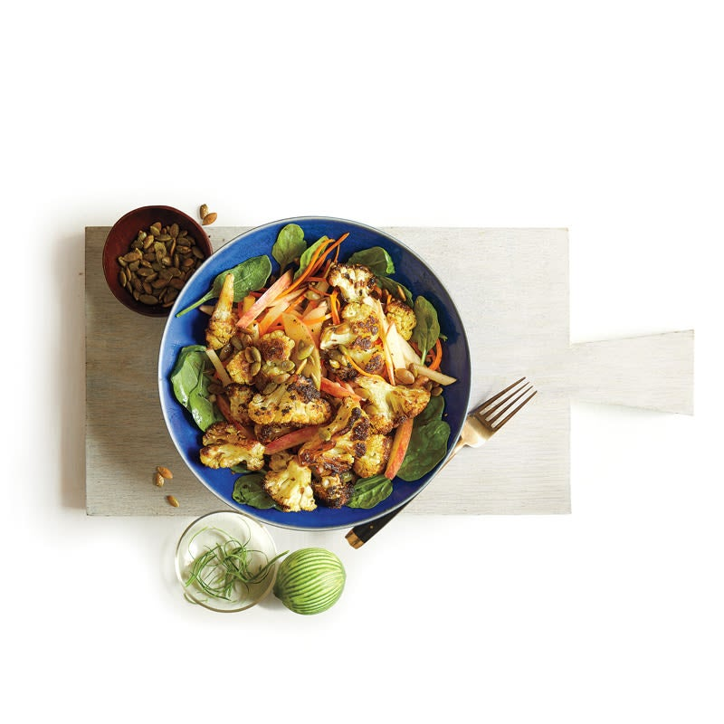 Photo of Roasted cauliflower & apple salad with pepitas & curry-lime vinaigrette by WW