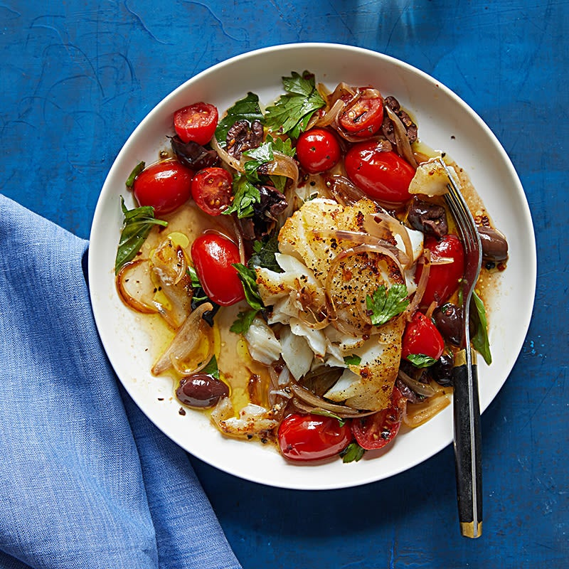 Photo of Sauteed Cod with Tomatoes and Olives by WW