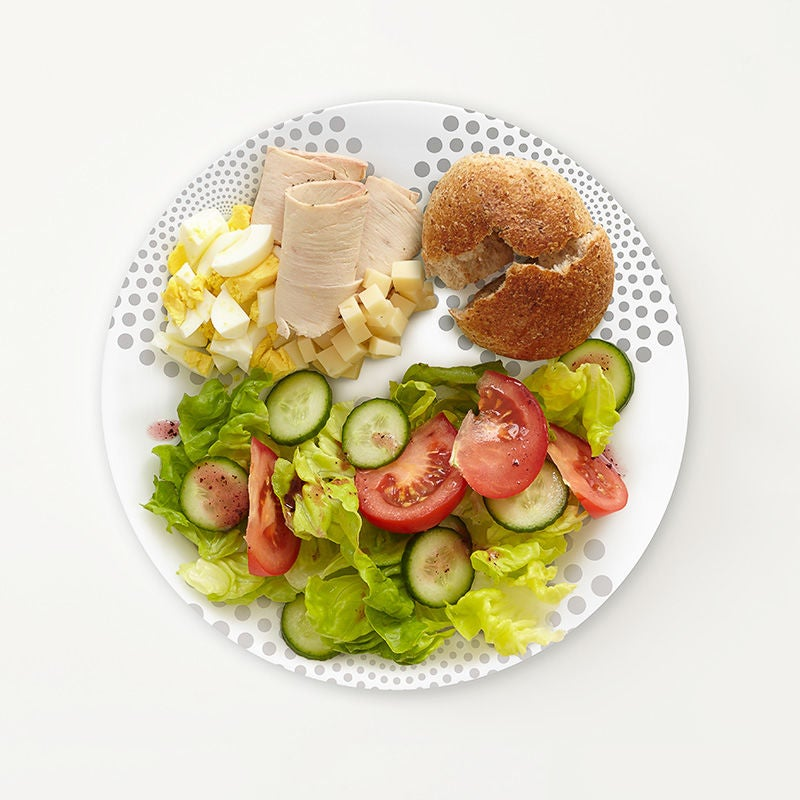 portion plate deconstructed chef s salad meal for one ww usa. Black Bedroom Furniture Sets. Home Design Ideas