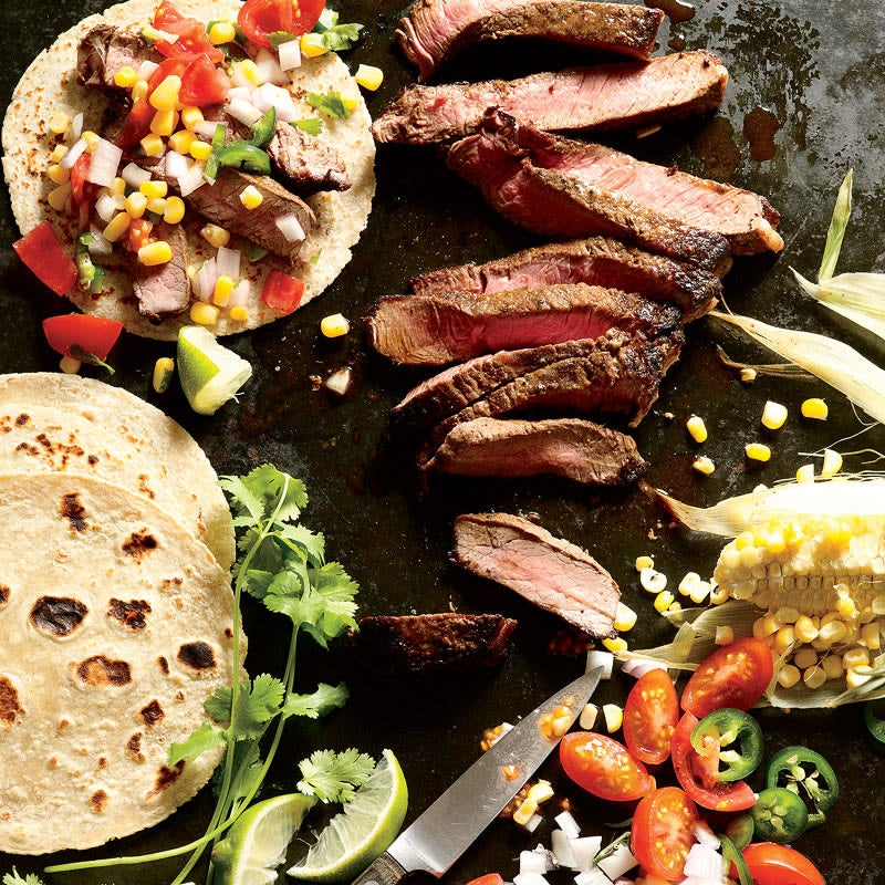 Photo of Steak with fresh corn and tomato salsa by WW