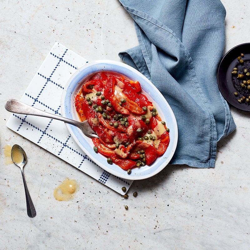 Photo of Roasted red peppers with capers and sherry vinaigrette by WW