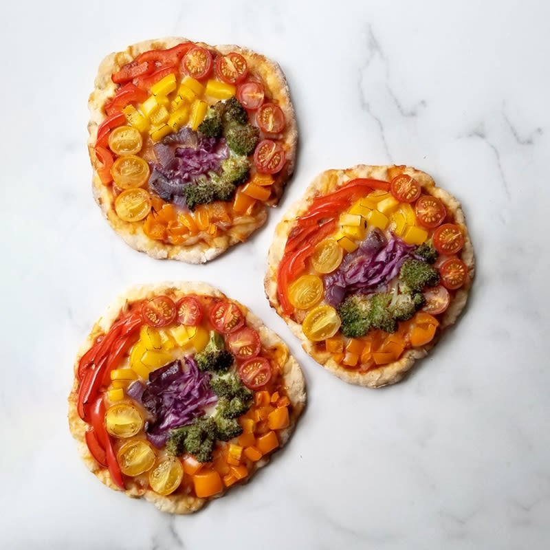 Photo of Rainbow personal pizzas by WW