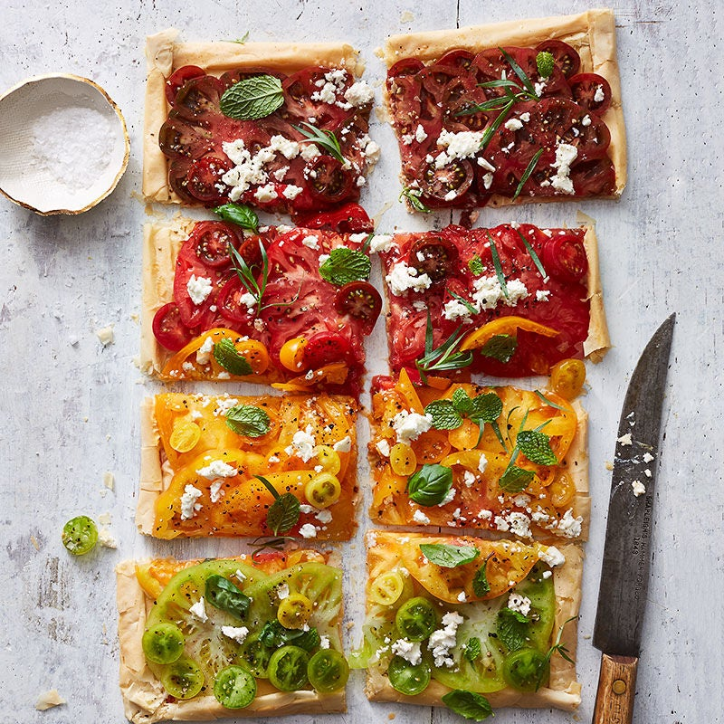 Photo of Tomato, Feta, and Fresh Herb Tart by WW