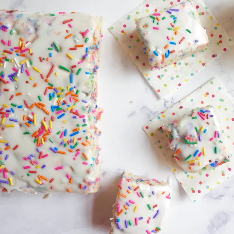Photo of Vegan, gluten-free funfetti snack cake by WW