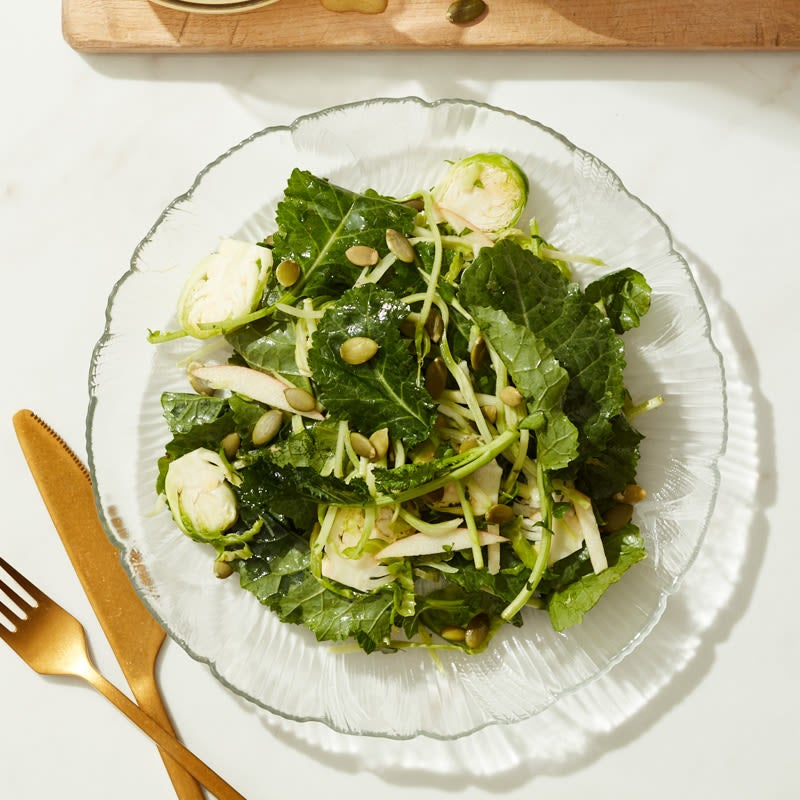 Photo of Cat Cora's winter greens salad with apples and almonds by WW