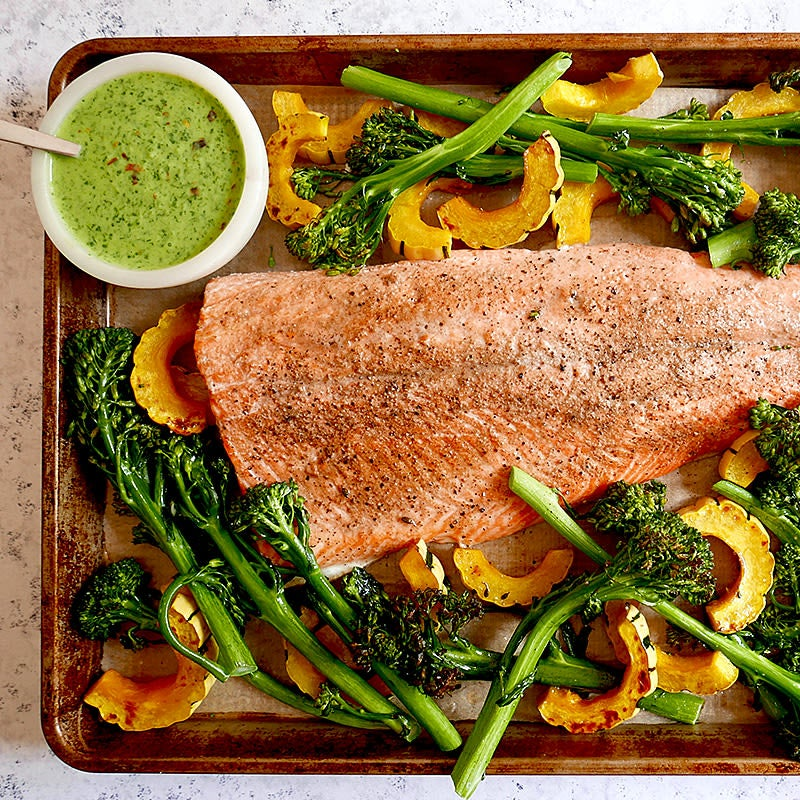 Photo of Sheet pan chimichurri-arctic char and vegetables by WW